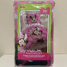 Disney Minnie Mouse Reversible Twin Size Comforter w/ Pillow Sham