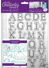 Docrafts Papermania A5 Farfalla Alfabeto Timbro Set + CARTELLA di Archiviazione Tasca