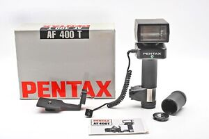 "Pentax AF 400 T ""Potato Masher"" TTL Flash AF400T Handle+Med Format Bracket+GREAT"