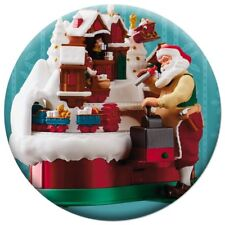Hallmark 2018 Keepsake Ornament Premiere Santa's Magic Train Button Pin, 1.5""