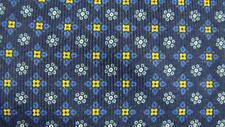 E MARINELLA NAPOLI BLUE GOLD BLACK FLORAL ITALY SILK NECKTIE TIE HJL1417A #Y14