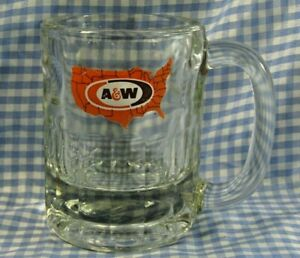 Vintage 1970s Kids Small A&W Root Beer Glass Mug Excellent