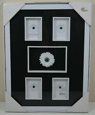NEW TARGET MODERN HOME SHADOW BOX 5 OPENINGS 2 SIZE WHITE FRAME BLACK BACKGROUND