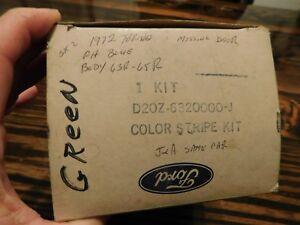 NOS 1972 FORD GRAN TORINO SPORT BLUE LASER SIDE STRIPE KIT D2OZ-6320000-J RH