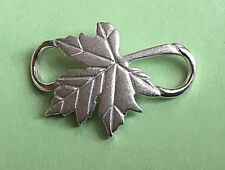 Maple Leaf Clasp Sterling Silver 925 New (Used on Convertible Bracelets)
