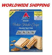 Atkins Peanut Butter Protein Wafer Crisps 6.35 Oz 5 Ct WORLDWIDE SHIPPING