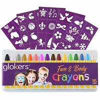 16 Piece Face & Body Crayons Washable Paint Sticks Sweat Proof Painting Markers
