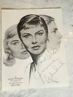 """JOANNE WOODWARD SIGNED Print Best Actress Award OSCAR  """"THE THREE FACES OF EVE"""""""