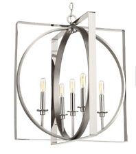Progress Lighting Inman 5-Light Polished Nickel Pendant w/Satin Nickel Accents