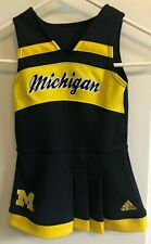 MICHIGAN WOLVERINES Girl Cheer Cheerleader DRESS Blue Yellow ADIDAS Size 24M