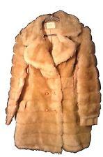 NICE RETRO! VINTAGE FINGERHUT FAUX FUR COAT 1970'S LADIES WITH GARMENT BAG