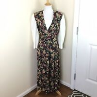 Vintage Betsy's Things Women's Modest Floral 1980's Dress Size 11/12 Layered