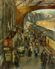 Stanhope Alexander Forbes Penzance Station   Wall Art  Canvas