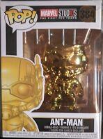 Funko Pop! CHROME ANT-MAN + PROTECTOR MARVEL02STUDIOS 10th ANIV EE Ltd. Edition