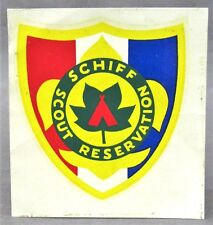 vintage SCHIFF SCOUT RESERVATION Boy Scouts water slide decal