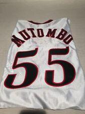 DIKEMBE MUTOMBO #55 PHILADELPHIA 76ers RETRO WHITE CHAMPION AUTHENTIC JERSEY 56