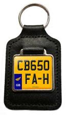 CB650FAH Reg (GB) Number Plate Leather Keyring for Honda CB 650 FA-H Owners NOS