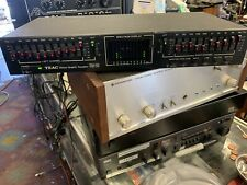 Vintage Teac Eqa-20 Stereo Graphic Equalizer Spectrum Analyzer Tested
