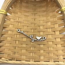 6 pcs Tibet silver Bird On Branch Charms 39x11mm DIY Jewellery Making crafts