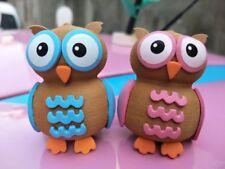 2X Cute Couple The owl Antenna Ball Car Aerial Ball Antenna Topper Decor Balls
