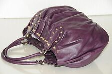 NEW GUCCI Tom Ford ERA Purple Leather Gold STUDS TOTE BAG Rare STUNNING