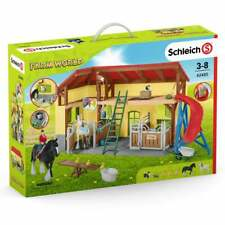 Schleich Farm World Horse Stable with 2 Horses