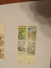 Wild Animals Habitats Block of 4 x 18 cents stamps USA 1981