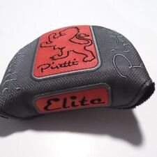 Piretti Elite Mallet Putter Headcover Red Silver Hook and Loop Close