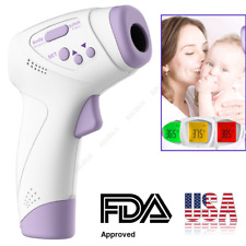 IR Digital Forehead Fever Thermometer Non-Contact Medical Baby Adult Kids Safe