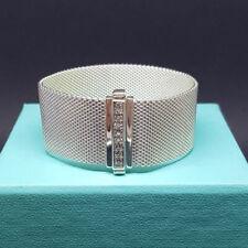 TIFFANY & CO STERLING SILVER SOMERSET MESH DIAMOND BRACELET - REAL & GORGEOUS