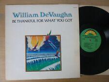 William DeVaughn – Be Thankful For What You Got  USA  1974  LP  Vinyl  vg++