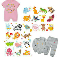 DIY Animals Patches Heat Transfer Iron On Patch Washable Clothes Stickers ~~~
