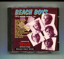 BEACH BOYS # LIVE AT SYRACUSE, NEW YORK 1971 # Curcio # CD Rock