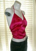 Silk Halter Top by The Limited Hot Pink, Lilac, Teal Blue NEW