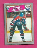 RARE 1988-89 TOPPS # B OILERS WAYNE GRETZKY  BOX BOTTOM CARD (INV# C9423)