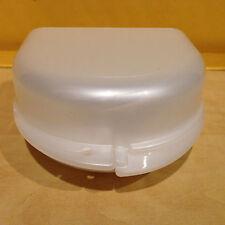 Dental Retainer Denture Case Box Holder Container Pearl White - USA Seller
