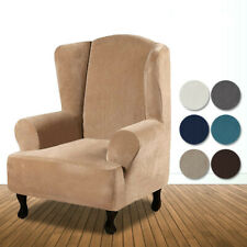 NEW Stretch Velvet Fabric Super Soft Recliner Wingback Armchair Cover Protector