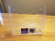 "Rubbermaid 3 Pocket File Folder Organizer Plastic Clear (13"" X 3 1/2"" X 11 1/2"")"