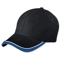 myrtle beach Half-Pipe Sandwich Cap Cappy Kappe Basecap Schwarz Weiß Royal Blau