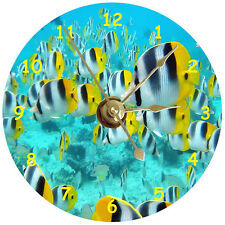 NEW Tropical Fish CD Clock