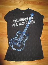 """2007 Ac Dc """"You Shook Me All Night Long"""" (Yth Lg) T-Shirt Angus Young"""