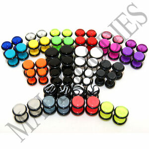 V011 Fake Cheaters Illusion Faux 16G Ear Plugs Earrings Studs 4G 2G 0G 00G 1/2""