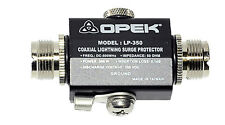 Coaxial lightning surge protector Connections by SO239 UHF socket and earth tag