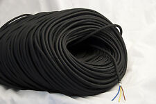 1m of BLACK vintage style textile fabric electrical cord old cloth light cable