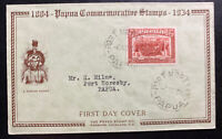 1934 Port Moresby Papua New Guinea First Day Cover FDC Commemorative Stamps