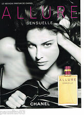 PUBLICITE ADVERTISING 065  2006  CHANEL  parfum ALLURE SENSUELLE