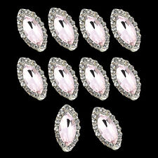 10x Nail Art Jewelry Decor Glitter Pink Rhinestone Manicure Nail Tips Design HOT