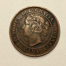 1859 Canada Cent Coin, Victoria, KM# 1, Beautiful
