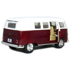 """5"""" Kinsmart Classic 1962 Volkswagen Bus Van Diecast Model Toy 1:32 VW- Maroon"""