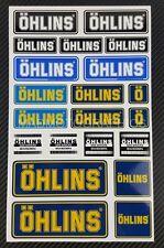Ohlins shock Aufkleber blatt Laminiert 21 stickers decal aprilia ducati kawasaki